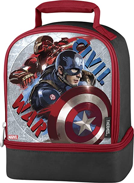 Amazon.com  Thermos Dual Lunch Kit, Captain America Civil War ... eb66b1f87c