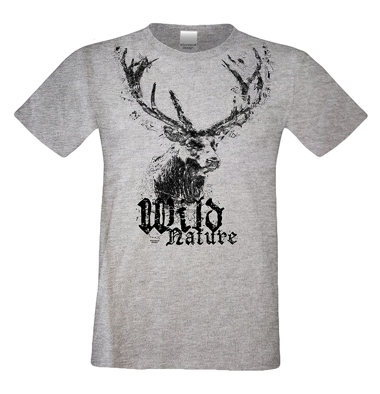 hangOwear Damen T-Shirt Deluxe Tracht Shirt Trachtenshirt Top Oktoberfest Geweih