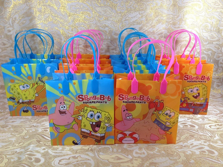 24 pcs Spongebob Squarepants Party Favor Goody Gift Bag Child Birthday Supply