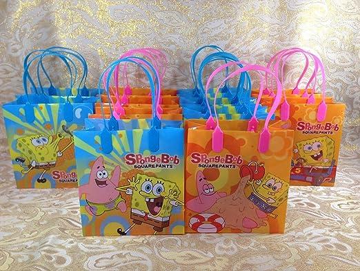 Amazon.com: Bob Esponja Party Favor Goodie Bolsa de regalo ...