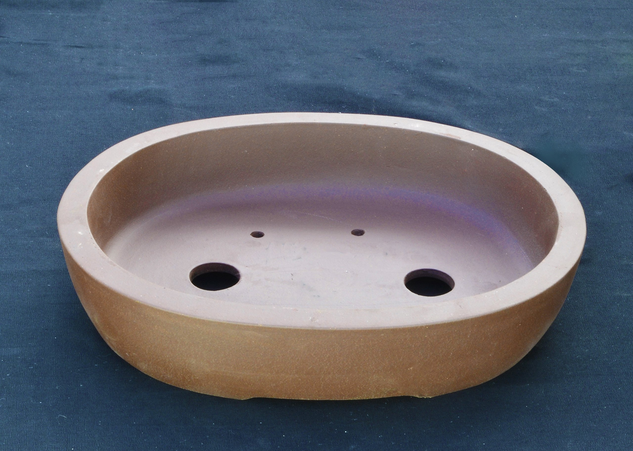 Large Unglazed 24'' Oval Yixing Purple Clay Ceramic Bonsai Pot(PB13-24) by BonsaiSupplies
