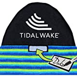 Personalize with Your Name! Blue /& Gray Wide Striped 60 Tag Your Bag Tidal Wake TAG-IT Round Nose Surf /& Wake Board Sock Bag with Built-in Name Tag