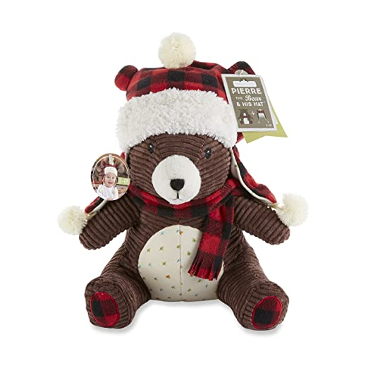 Baby Aspen Pierre The Bear Plush Toy and Hat