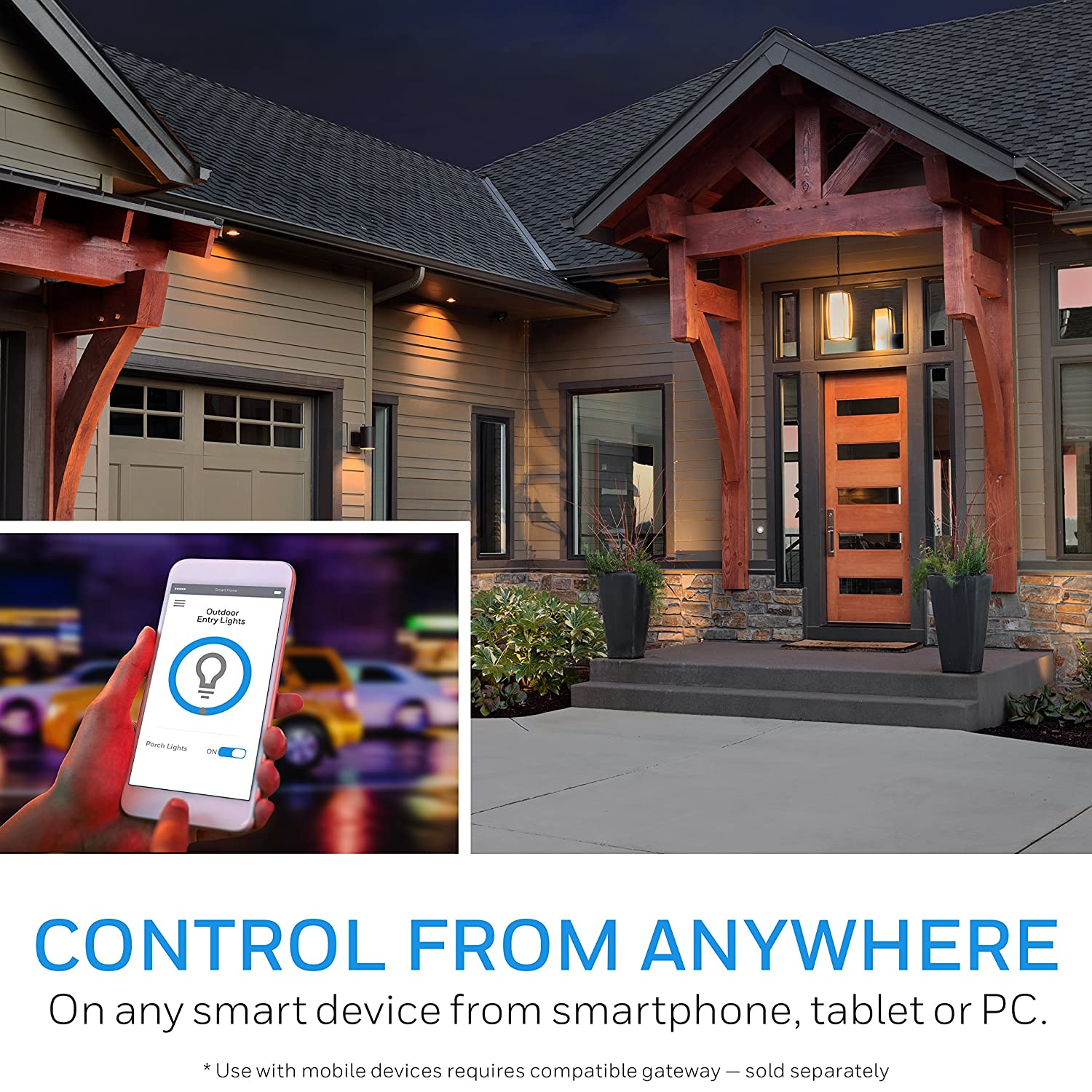 Honeywell Z Wave Plus On Off Smart Light Switch In Wall Paddle Lighting Wiring With Neutral Zwave Home Interchangeable White Almond Built Repeater Range Extender Hub Required
