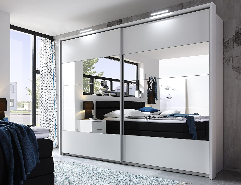 Penta 5 Cabinet Bedroom Wardrobe Sliding Door Wardrobe With Mirror Lighting Frame Amazon De