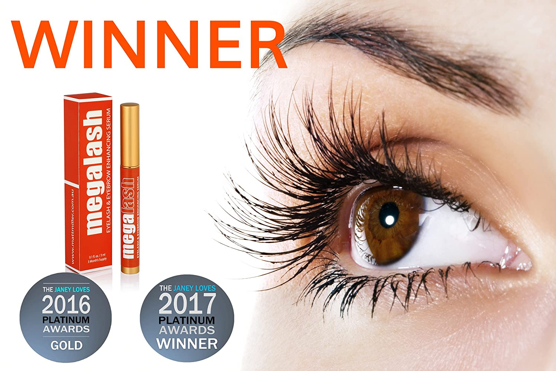 7ddae09d483 Amazon.com: MegaLash - Best Natural Eyelash Eyebrow Growth Serum Oil - Grow  Longer, Thicker Eyelashes with this Clinically-Proven Formula that Enhances  ...