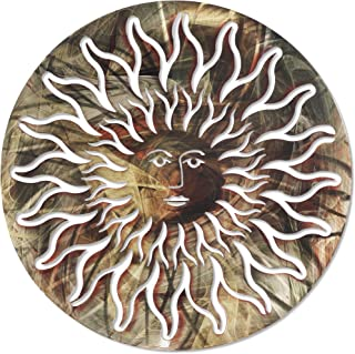 product image for 3D Metal Wall Art - Smiling Sun Wall Decor - Handmade in the USA for Use Indoors or Outdoors - Multi Color
