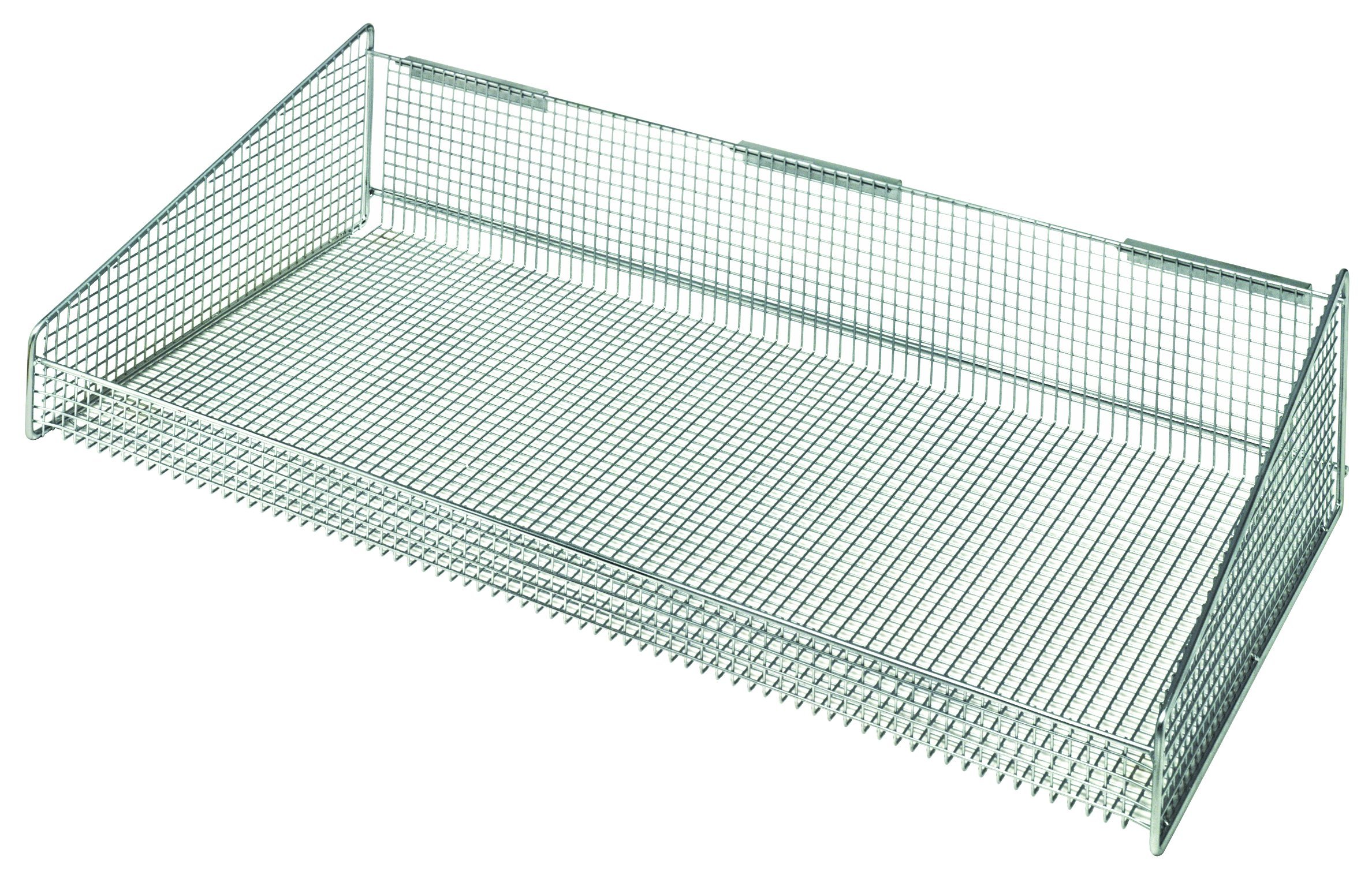 Quantum Storage Systems 1635HBC Hanging Basket for Wire Partition Wall System Units, 17'' x 35-1/2'' x 7-3/8''