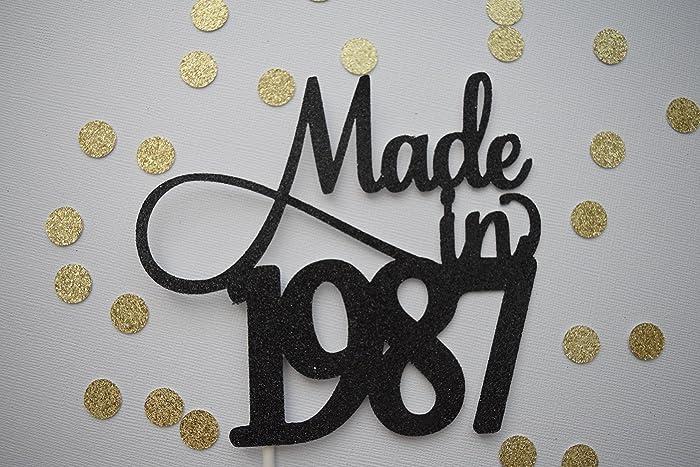 Dirty 30 Cake Topper 1987 30th Birthday Decor Glitter
