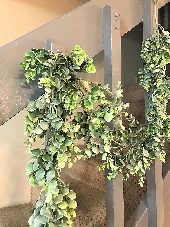 Elegant Blooms /& Things 6 Feet Artificial Eucalyptus Garland Banister Mantel Wrap Hang Coil Decor Plastic