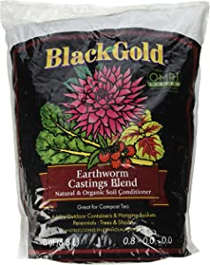 Sun Gro 1490302.Q08P Black Gold Earthworm Castings, Multicolor ,8 quart