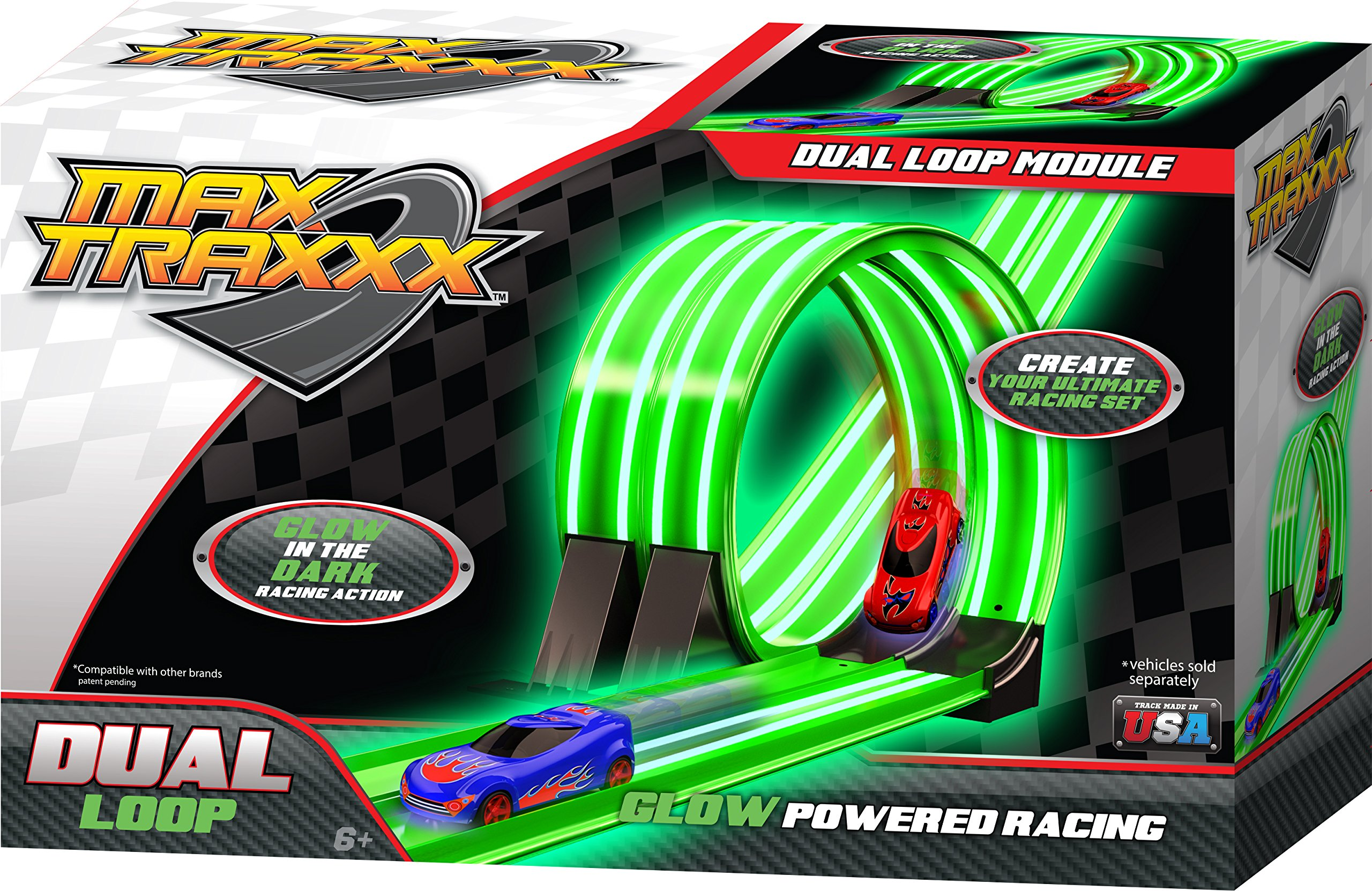 Max Traxxx Tracer Racers Dual Loop Add On Module for Gravity Drive and Remote Control 1:64 Scale Sets