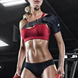Topsray Shoulder Brace for Men and Women - Available Right and Left - Lightweight Shoulder Compression Support for All Sports, Football, Basketball - Rotator Cuff and Loose Pain - Neoprene,Adjustable