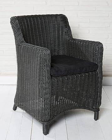 6x Hochwertiger Polyrattan Gartenstuhl Sessel Rattan Stuhl