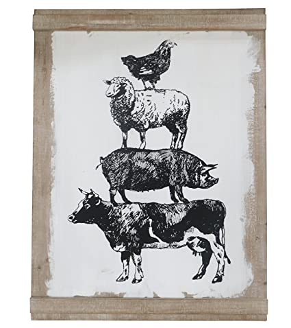 Amazon Barnyard Designs Large Farm Animal Wall Decor Sign