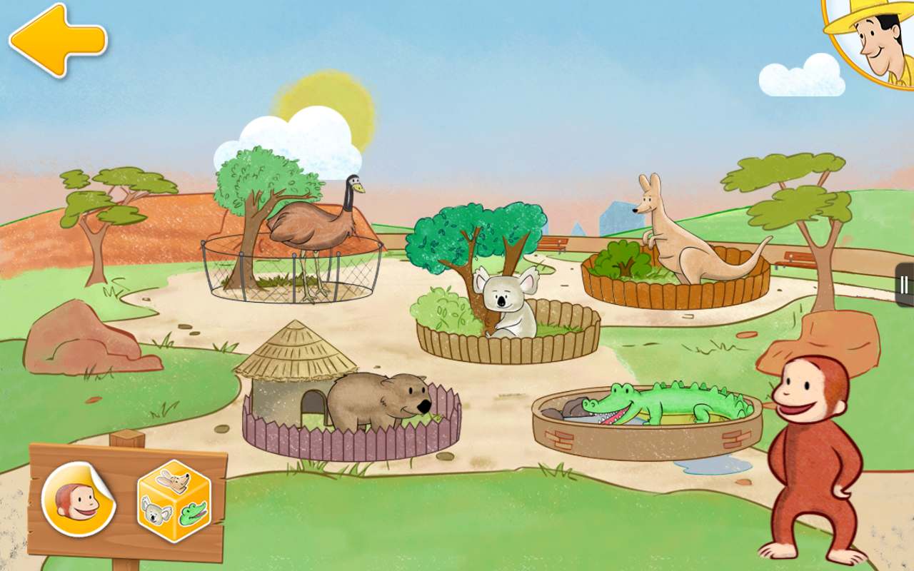 Amazon Com Curious George At The Zoo The Outback