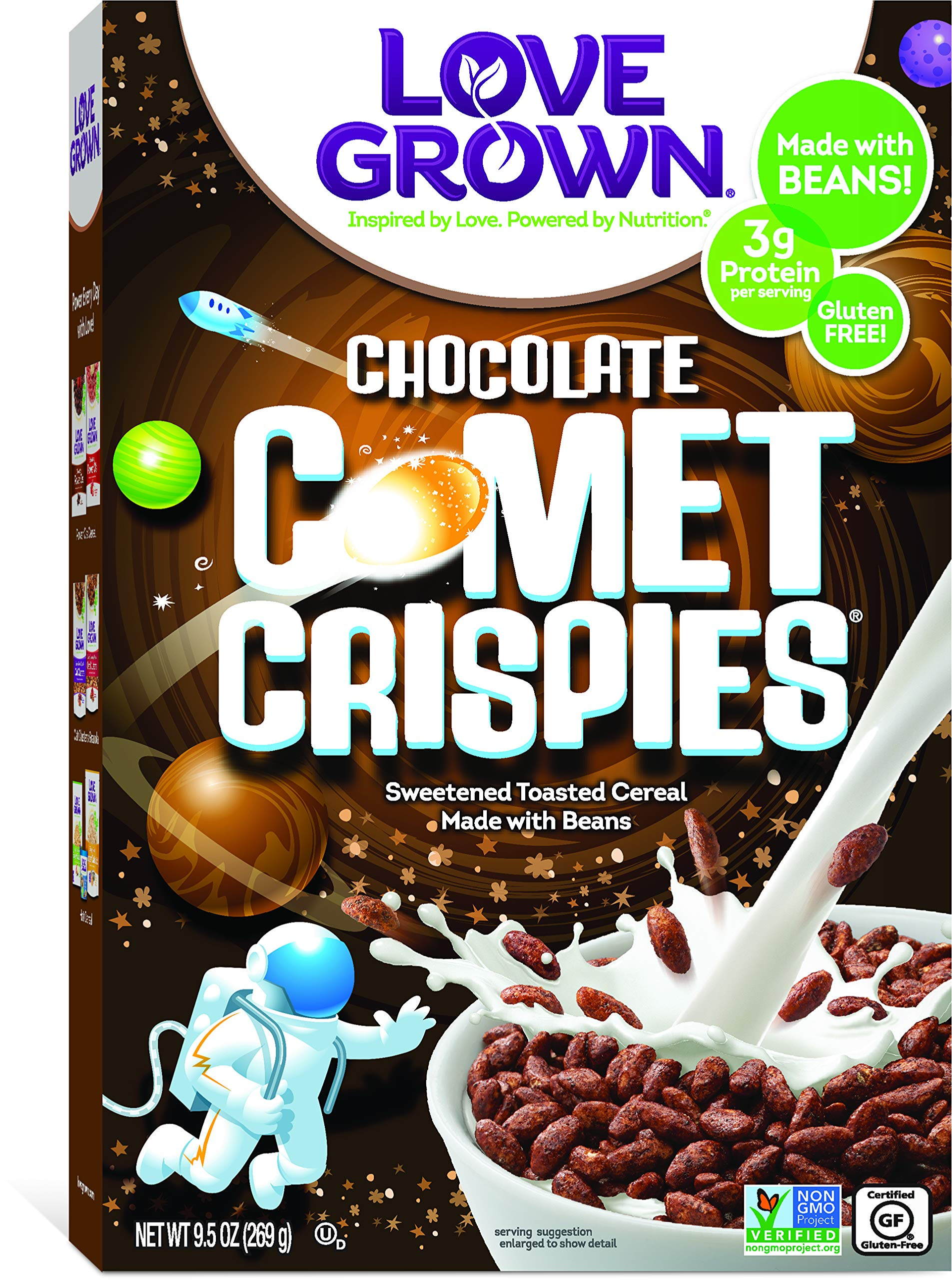 Love Grown Comet Crispies Cereal, 9.5 oz. Box, 6-Pack by Love Grown