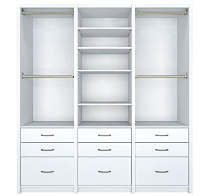 Amazing ClosetMaid 6109240 Spacecreations Wood Closet Organizer Kit, 78 Inch,  Classic White