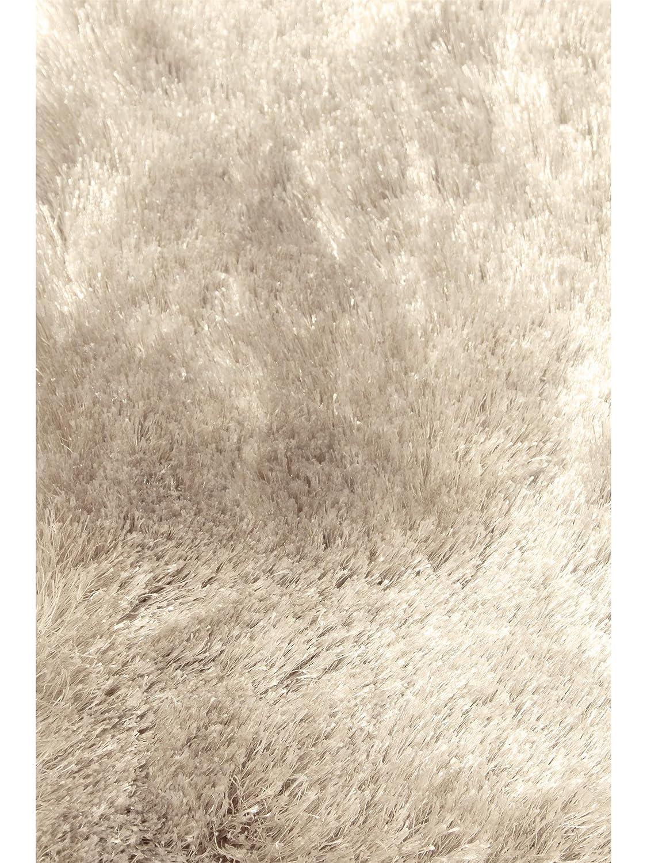 Benuta Teppiche  Shaggy Langflor Hochflor Teppich Whisper Beige ø 200 cm rund - schadstofffrei - 100% Polyester - Uni - Handgetufted - Wohnzimmer