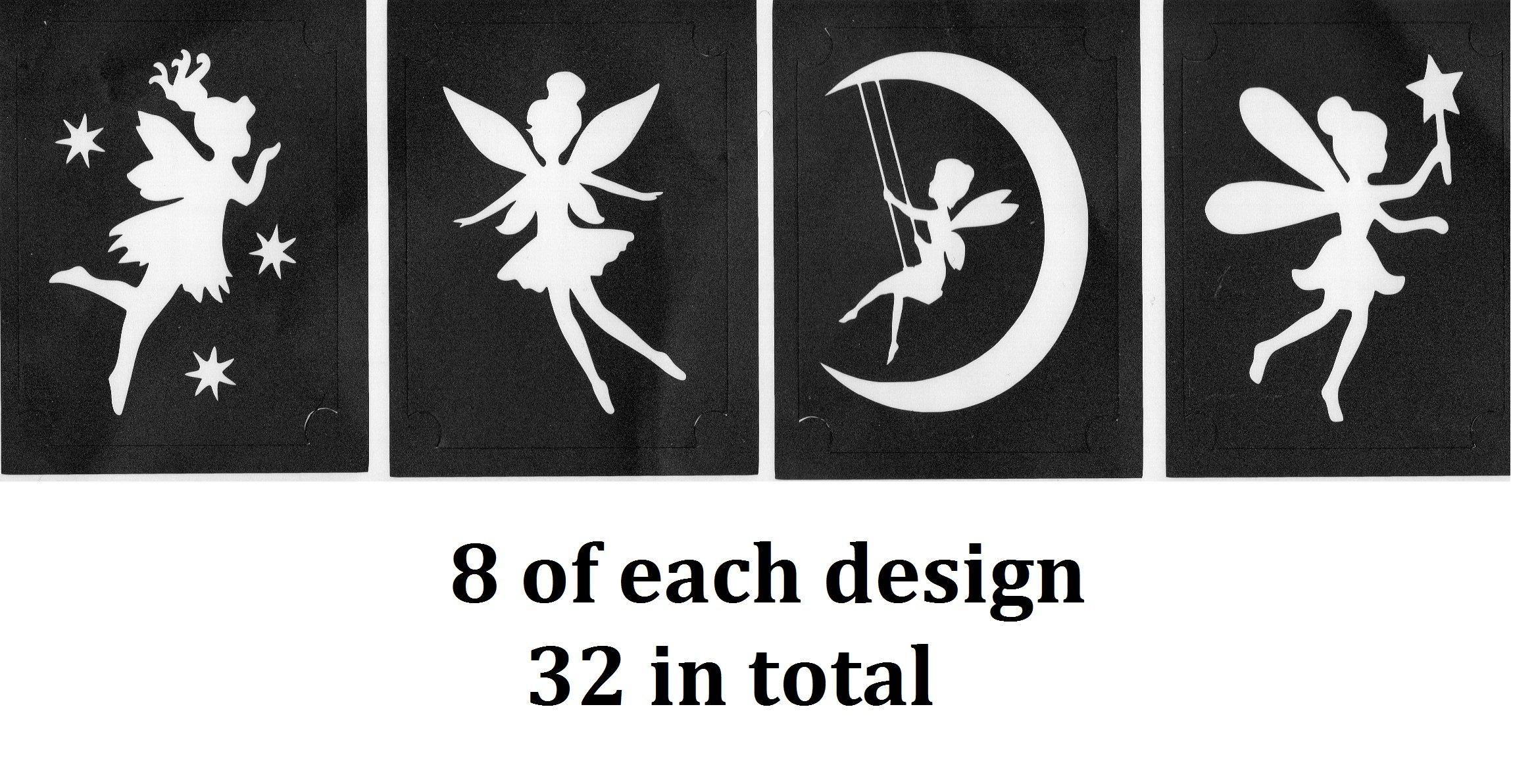 Fantasy Tattoo Stencil Collections (32 Tattoo Glitter Airbrush Stencil Fairy)