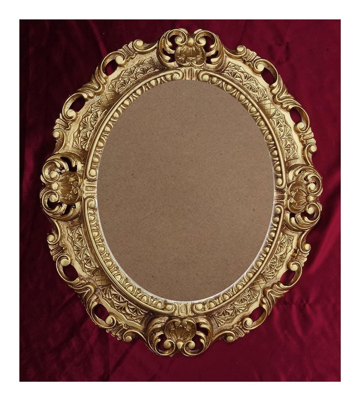 Lnxp BILDERRAHMEN Antik Barock in der Farbe: Gold 45x38 cm Oval ...