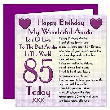 Auntie 85th Happy Birthday Card