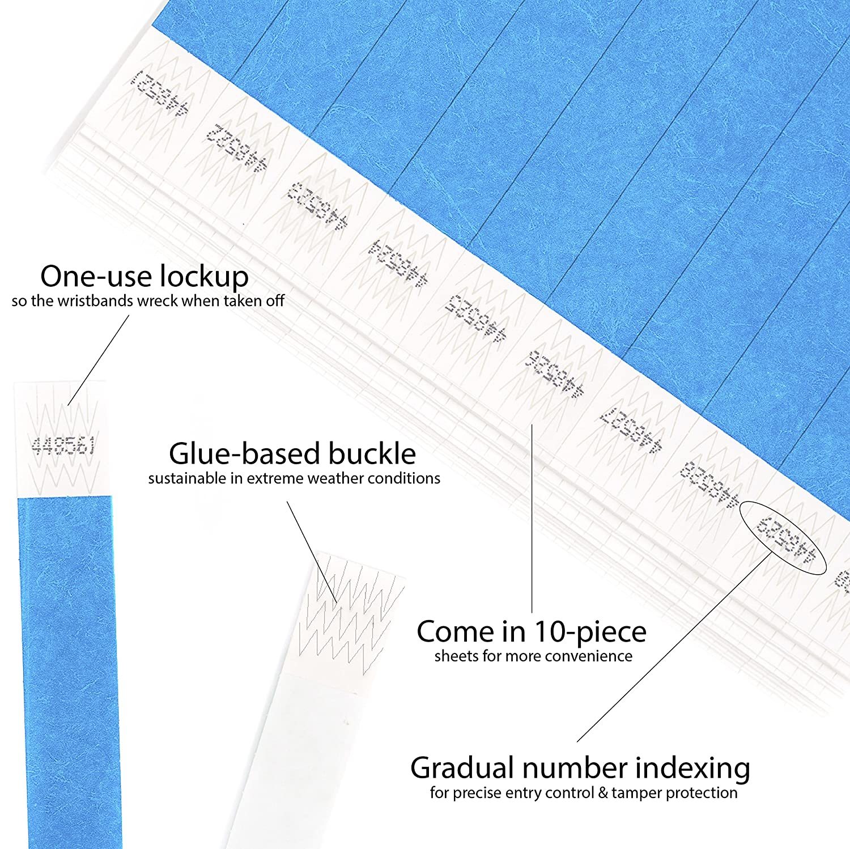 3//4 500 pezzi Tyvek Wristbands Cintapunto/® Neon Orange 19 mm braccialetti monouso tyvek braccialetti tyvek