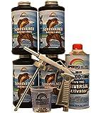 T-Rex White Bed Liner, 2K Urethane, SMR-1000W-K4 Truck Bedliner w/Free Spray Gun