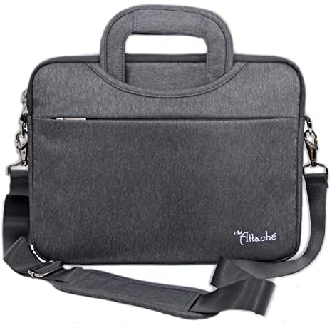 2723a4c55ab7 i-Tech Attache Waterproof Laptop Bag Shoulder Messenger Bag Case Sleeve  Business Bag Soft Briefcase for Men Women 12.9 inch iPad Pro, 13.3 inch ...