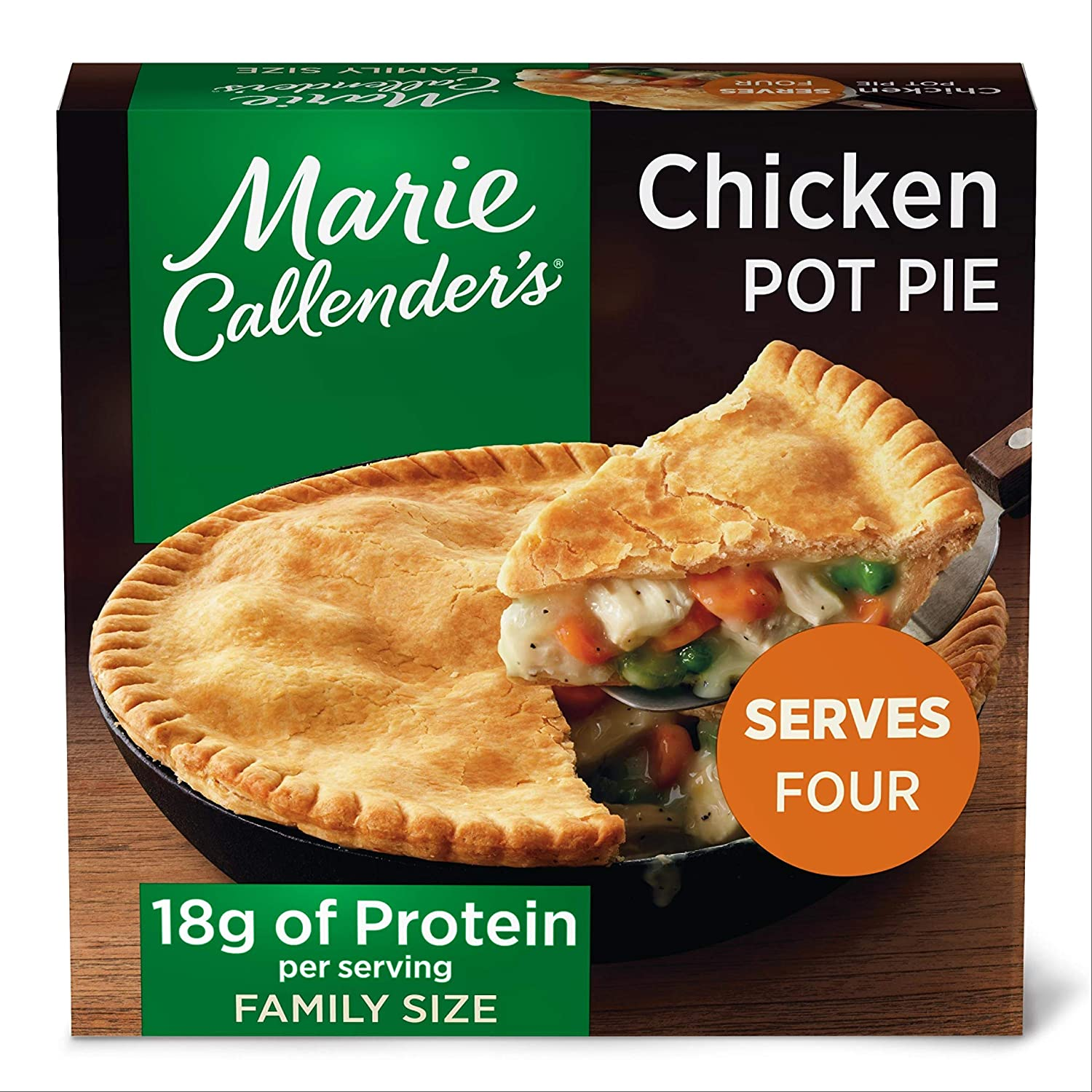 Marie Callender's Frozen Pot Pie Dinner, Chicken, Multi-Serve, 45 Ounce