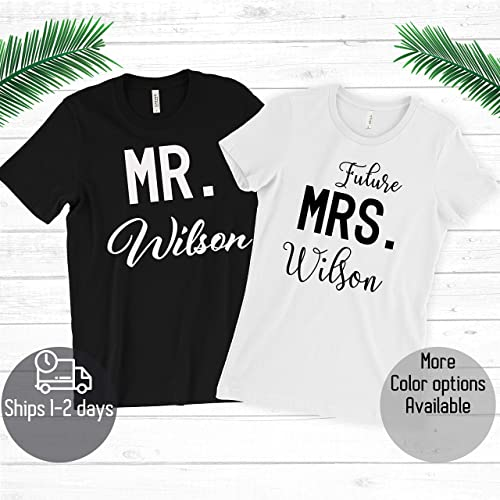 Amazon Custom Couple Mr Mrs With Your Name T Shirt