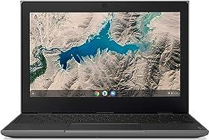"Lenovo 100E Chromebook 2ND Gen Laptop, 11.6"" HD (1366 X 768) Display, MediaTek MT8173C Processor, 4GB LPDDR3 RAM, 16GB eMMC TLC SSD, Powervr GX6250, Chrome OS, 81QB000AUS, Black (Renewed)"