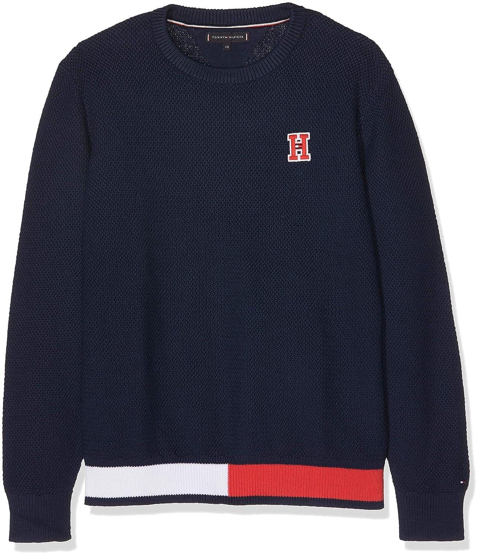 Tommy Hilfiger Jungen Pullover Essential Flag Rib Sweater KB0KB04264