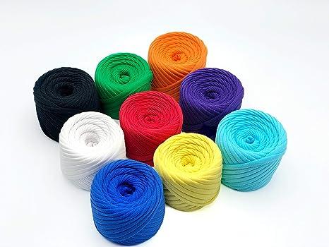 Amazon.com: Juego de 9 ovillos de lana para camiseta, de 196 ...