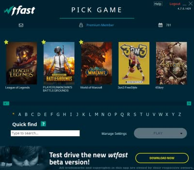 wtfast Gamers Private Network (GPN) - 6 Month Key [Online Code]