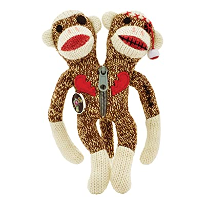 "Yarn Zombies Sock Monkey ""Sokz"" The Bi-Polar JUJU: Toys & Games"