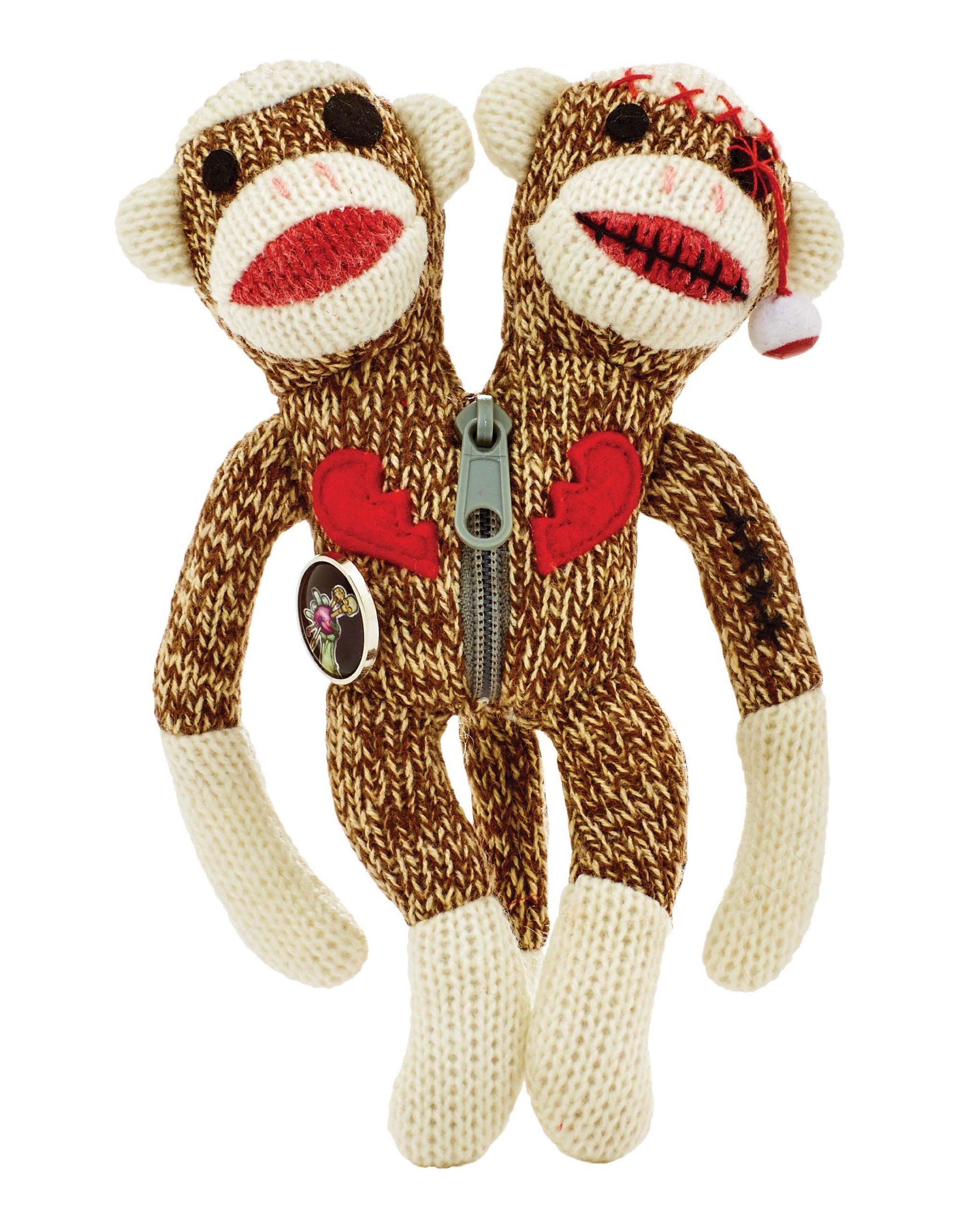 Yarn Zombies Sock Monkey ''Sokz'' The Bi-Polar JUJU by KIDS PREFERRED