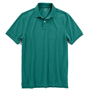 fe289e02 J.Crew Factory Men's Slim Fit - Short Sleeve Pique Polo Shirt at Amazon  Men's Clothing store: