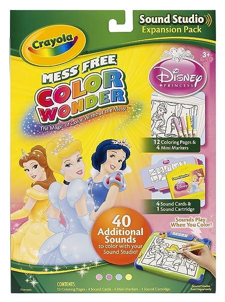 amazoncom crayola color wonder sound studio disney princess refills toys games
