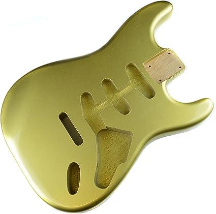 Vintage oro Stratocaster Guitarra eléctrica cuerpo – 2 piezas ...