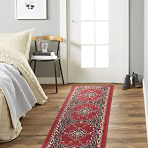 "Home Dynamix Sakarya Area Rugs, 1'9""x7'2"" Runner, Oriental Red"