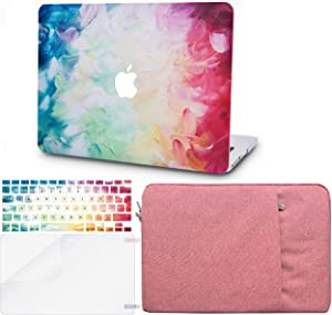 """KECC Laptop Case for MacBook Air 13"""" w/Keyboard Cover + Sleeve + Screen Protector (4 in 1 Bundle) Plastic Hard Shell Case A1466/A1369 (Fantasy)"""