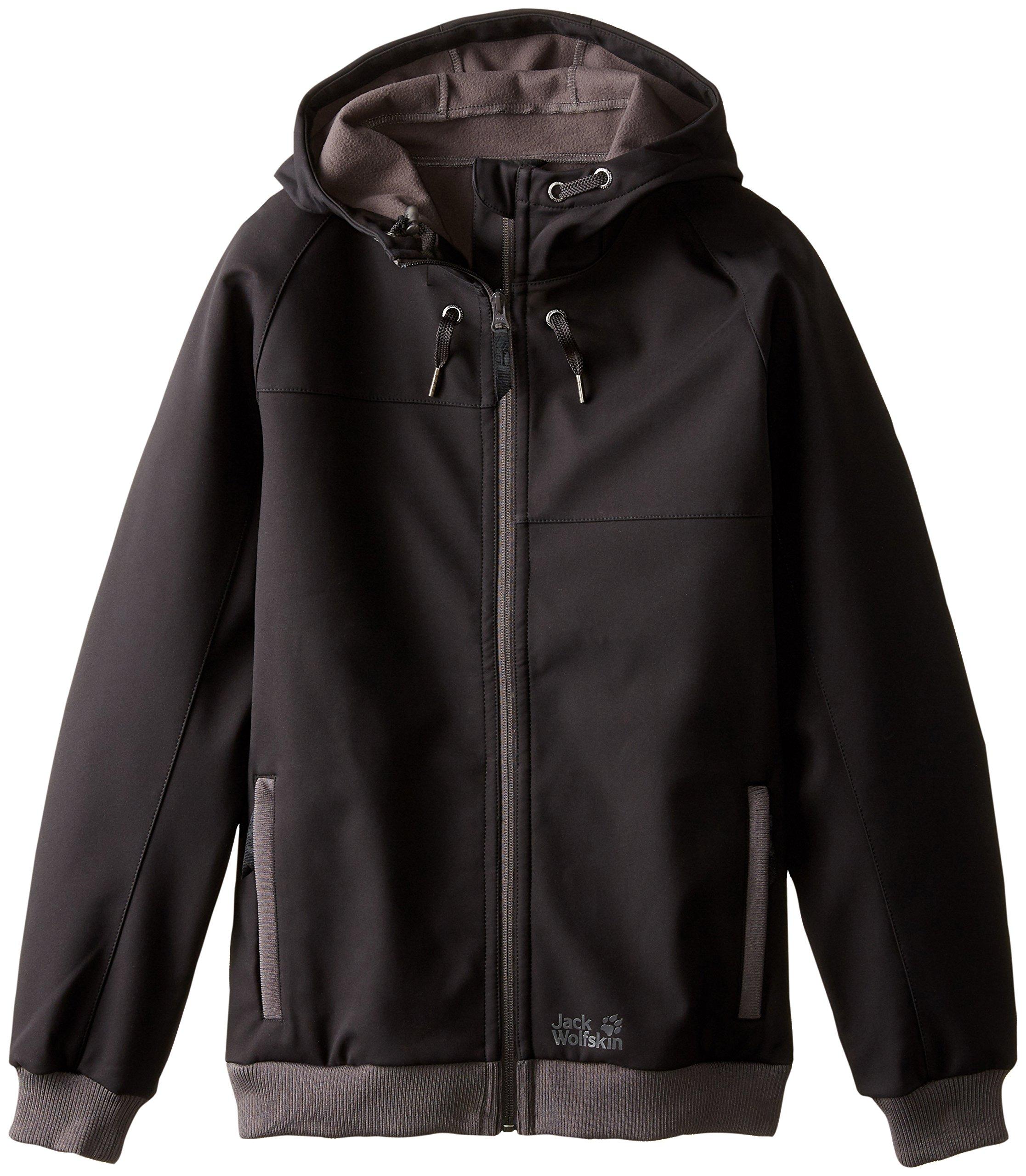 Jack Wolfskin Boy's Stan Soft Shell Jacket, Black, Medium (152/158)