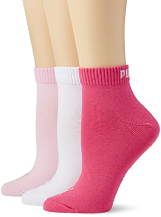 Puma Quarter Damen Sneakers Socken 9er Set 9 Paar - Pink Lady