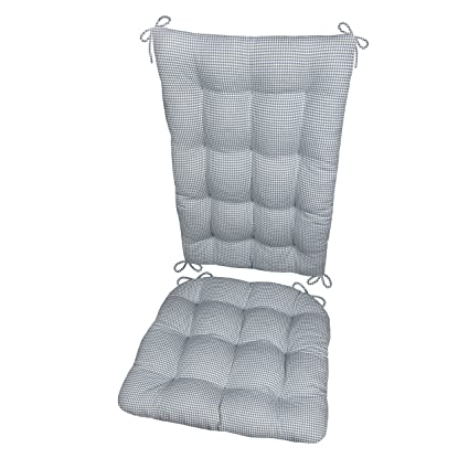 Delicieux Rocking Chair Pad Set, Madrid Gingham Check, Rocker Seat Cushion U0026 Back  Cushion,