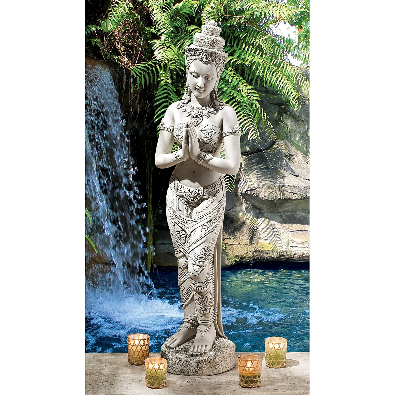 Asian Garden Art Part - 40: Amazon.com : Design Toscano Thai Teppanom Beautiful Being Statue : Garden U0026  Outdoor