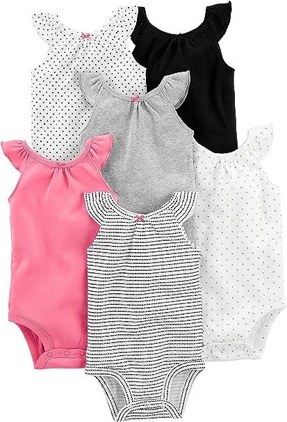 Simple Joys by Carters 6-Pack Sleeveless Bodysuit Mixte b/éb/é