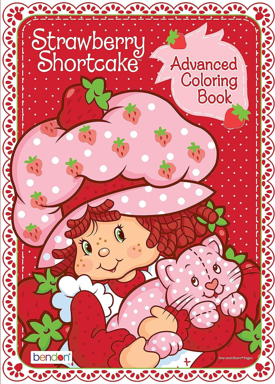 Amazon Com Bendon Strawberry Shortcake Retro 80 Page Advanced Coloring Book 42440 Toys Games