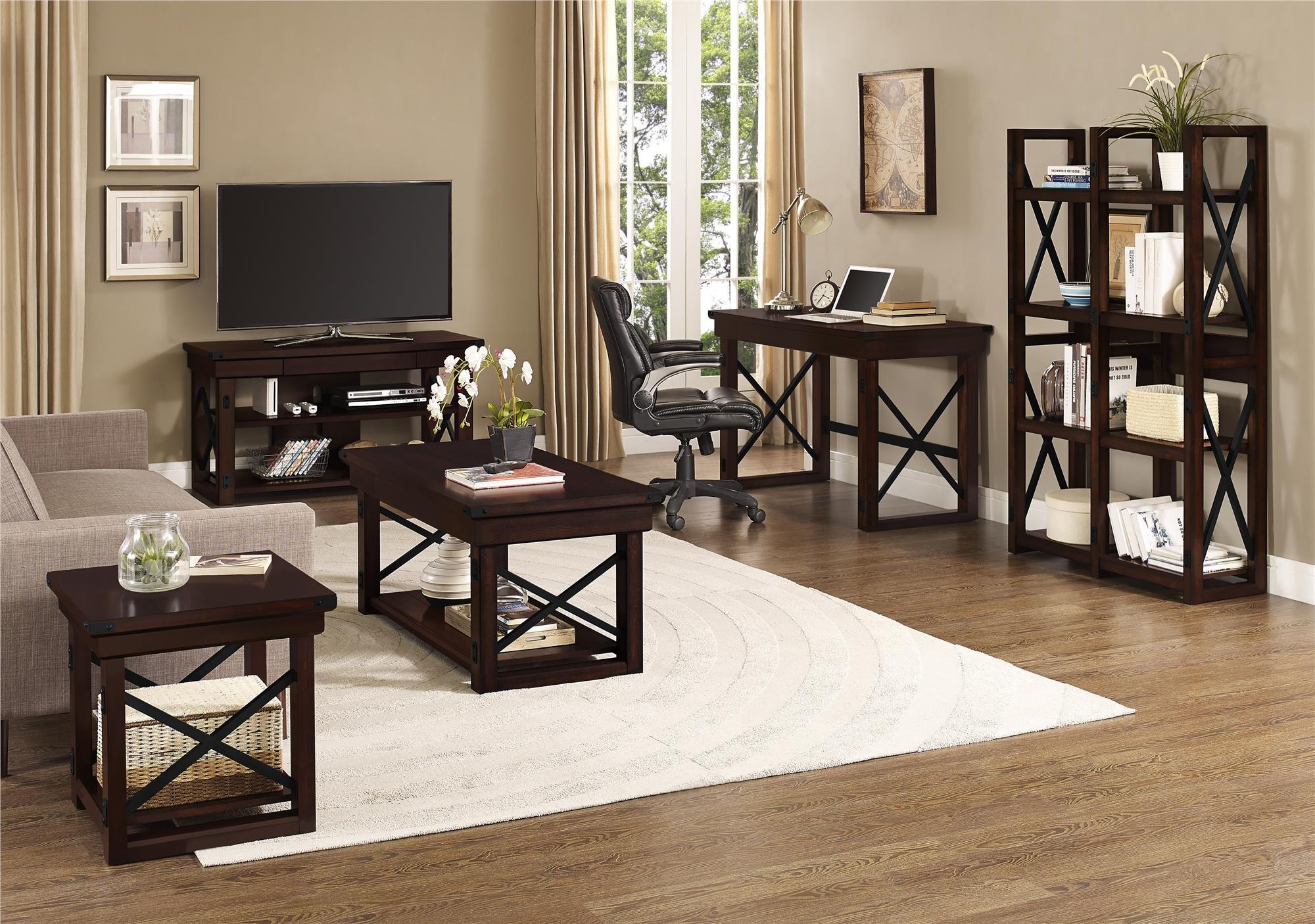 Ameriwood Home Wildwood Wood Veneer  Desk, Espresso by Ameriwood Home (Image #5)