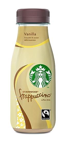 Starbucks - Frappuccino Vanilla - Bebida con Café - 250 ml - [Pack de 4